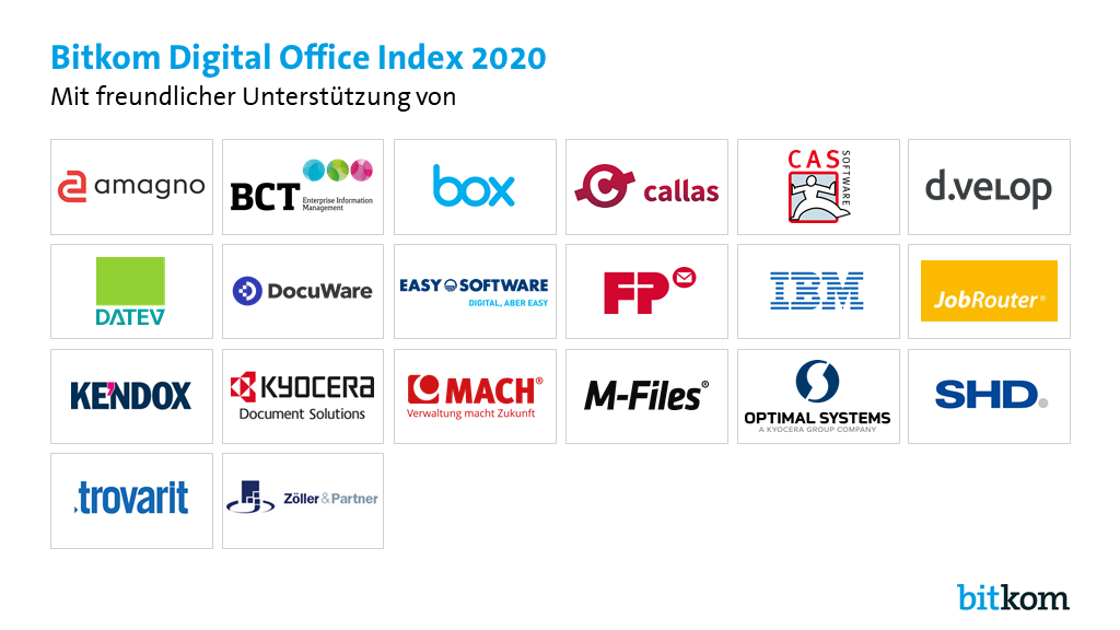 Sponsorentafel Digital Office Index 2020