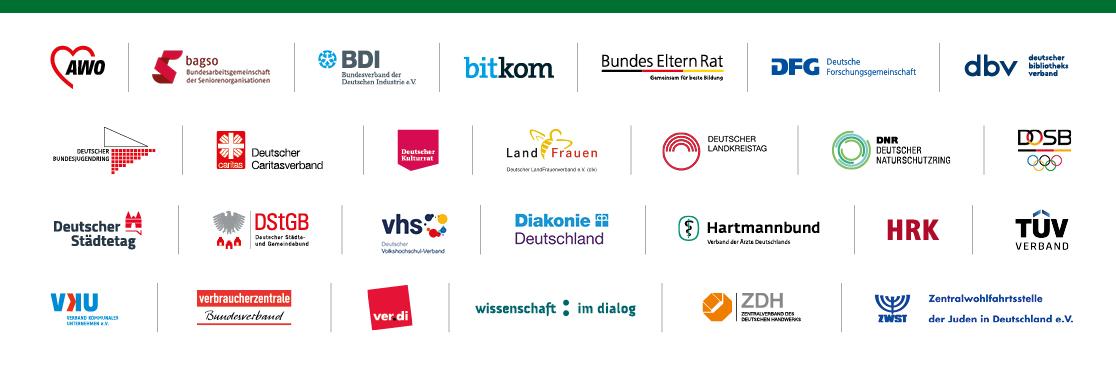 """Die Partnerinnen und Partner der Initiative """"Digital für alle"""""""