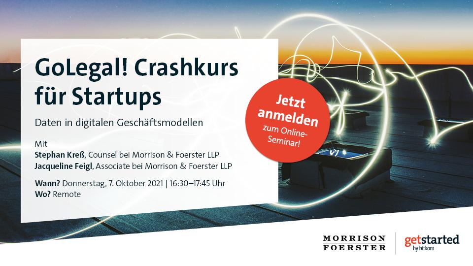 Visual für GoLegal! Crashkurs für Startups - Daten in digitalen Geschäftsmodellen