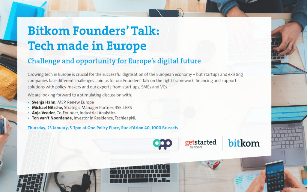 Bitkom Founders Talk Brüssel Januar 2020
