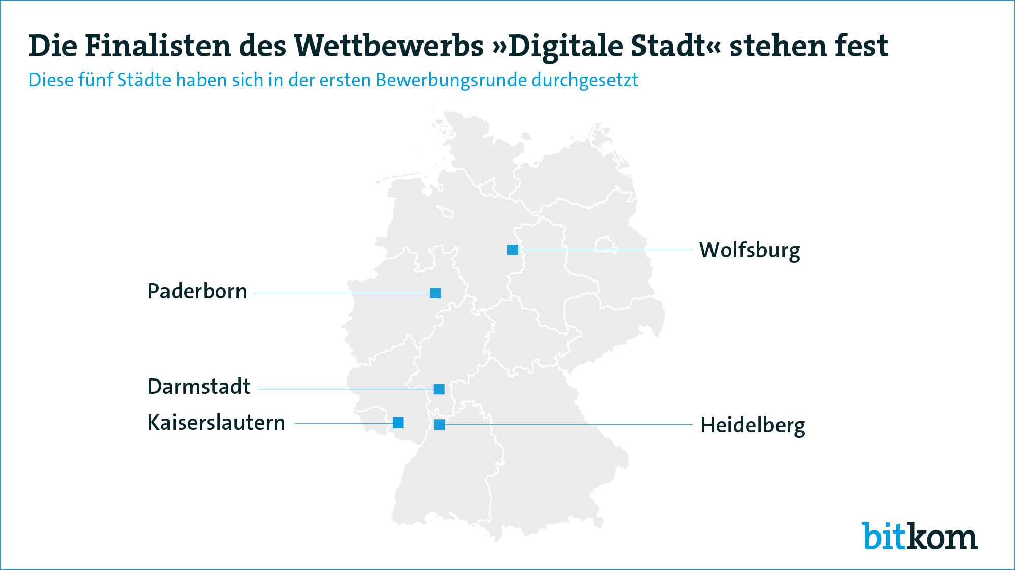 Funf Stadte Erreichen Finale Des Wettbewerbs Digitale Stadt